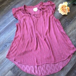Maeve by Anthropologie rose colored tank